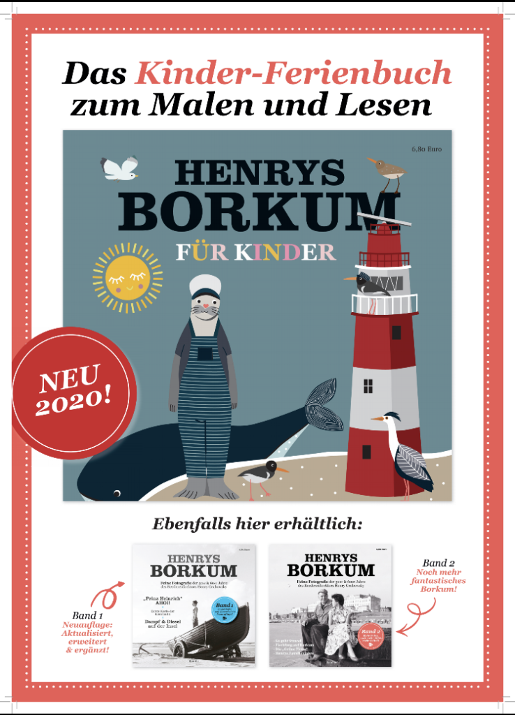 Plakat Kinderferienbuch Henrys Borkum, Band 3